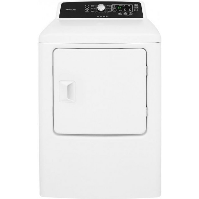 Frigidaire FFRE4120SW 27 Inch Electric Dryer with 6.7 cu. ft. Capacity, 10 Dry Cycles, 5 Temperature Settings, DrySense in White