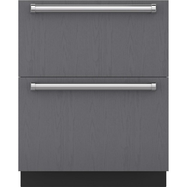 Sub-Zero ID-27R 27 Inch Integrated Double Drawer Refrigerator 4.6 cu. ft. Capacity, Automatic Defrost, Energy Star Certified, in Stainless Steel