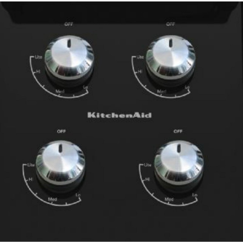 KitchenAid Architect Series II KGCC506RBL 30 In. Gas On Glass Gas Cooktop  In Black With 4 ...