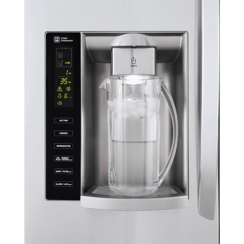 Lg Lfx25973st 24 1 Cu Ft French Door Refrigerator In