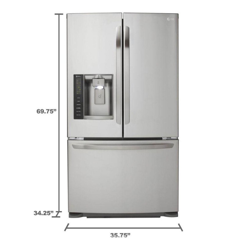 Beautiful French Door Refrigerator In Stainless Steel, Dual Ice Maker