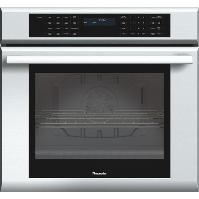 """Thermador ME301JS Masterpiece Series 30 Inch 4.7 cu. ft. Electric Single Wall Oven and WD30JS 30""""  Electric Warming Drawer in Stainless Steel"""