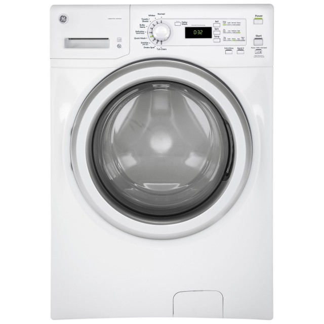 GE GFW400SCMWW 4.8 Cu. Ft. High Efficiency Front Load Washer in White