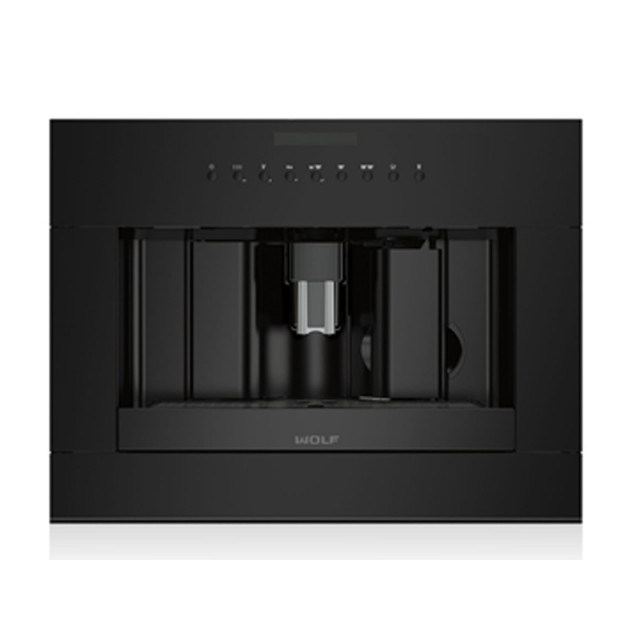 Wolf EC24/B 24-inch Built-in Coffee System with Coffee Grinder in Black