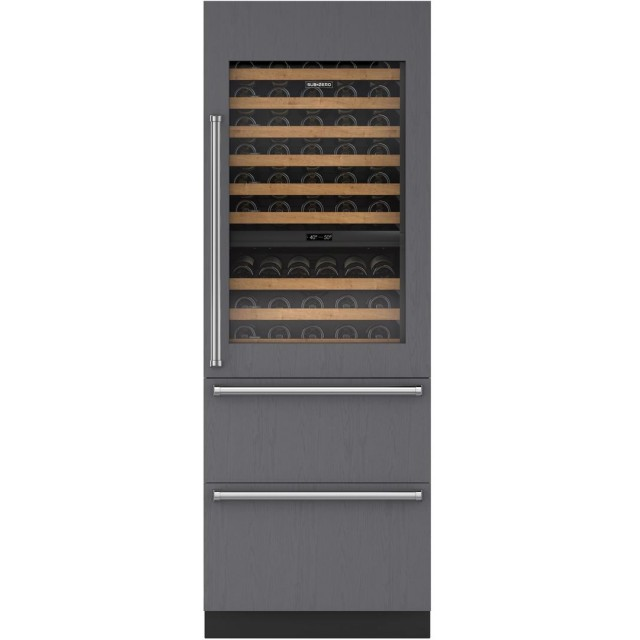 "Sub-Zero IW-30R-RH 30"" Designer Wine Storage with Refrigerator Drawers - Panel Ready"