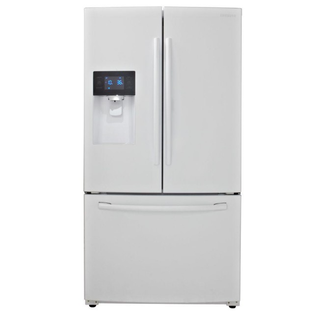 Samsung RF263BEAEWW 24.6 cu. ft. French Door Refrigerator in White