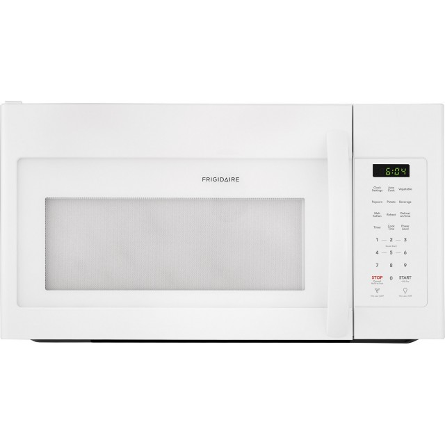 Frigidaire FFMV1745TW 30 Inch Over-the-Range Microwave with One-Touch Controls, Multi-Stage Cooking, Interior LED Lighting, Cooktop LED Lighting, Auto-Reheat, Two Speed Ventilation and Charcoal Filter: White