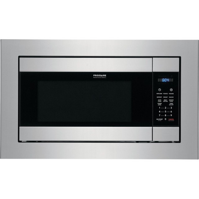 Frigidaire FPMO227NUF 24 Inch Built-In Microwave with PowerSense™ Cooking Technology, One-Touch Options, Smudge-Proof™ Stainless Steel, 2.2 cu. ft. Capacity, Melt Setting, Auto Defrost and Adjustable Timer