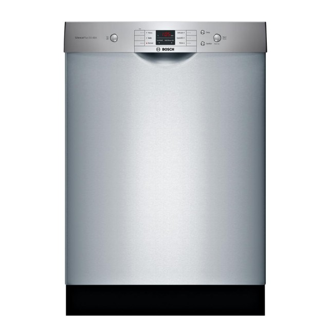 Bosch SHEM3AY55N 100 Series Front Control Tall Tub Dishwasher in Anti-Fingerprint Stainless Steel with Hybrid Stainless Steel Tub, 50dBA