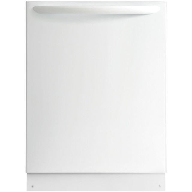 Frigidaire FGID2466QW Gallery Top Control Built-In Dishwasher with OrbitClean Spray Arm in White, ENERGY STAR, 52 dBA