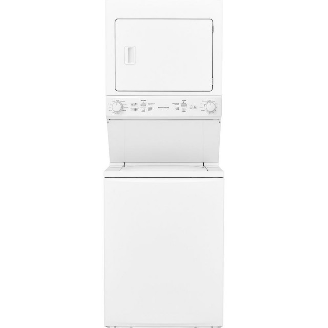 Frigidaire FFLG3900UW White Laundry Center with 3.9 cu. ft. Washer and 5.5 cu. ft. Gas Dryer