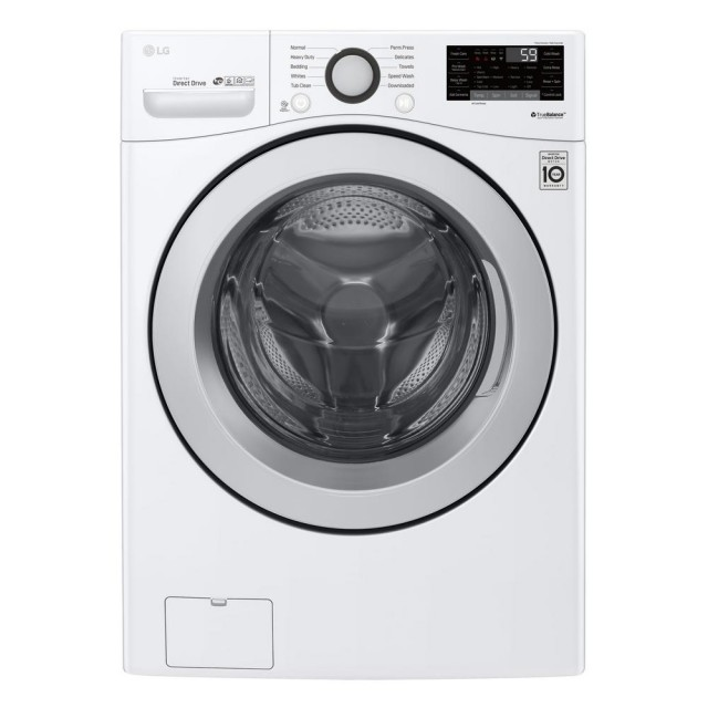 LG WM3500CW 4.5 cu.ft. Ultra Large Capacity Front Load Washer with Coldwash Technology and Wi-Fi Connectivity in White