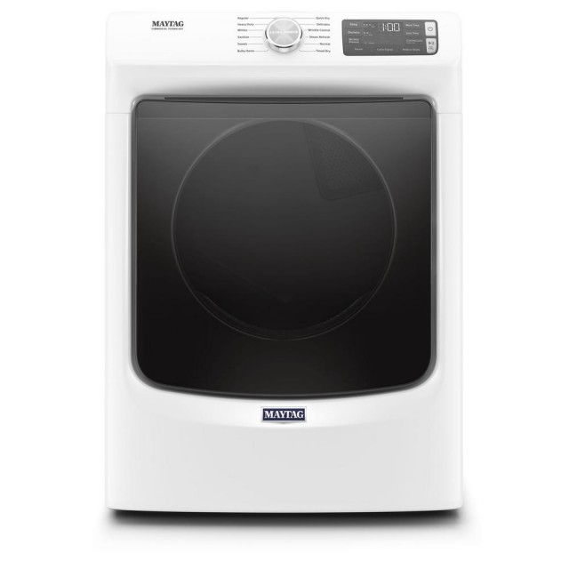 Maytag MGD6630HW 7.3 cu. ft. 120-Volt White Stackable Gas Vented Dryer with Steam and Quick Dry Cycle, ENERGY STAR
