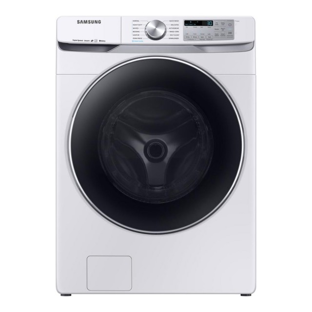 Samsung WF45R6300AW 4.5 cu. ft. High-Efficiency White Front Load Washing Machine with Steam and Super Speed