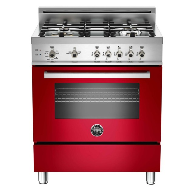 Bertazzoni PRO304GASRO Professional Series 30 Inch Freestanding Gas Range with 4 Burners, Sealed Cooktop, 3.6 cu. ft. Primary Oven Capacity, Storage Drawer, Convection Oven in Stainless Steel