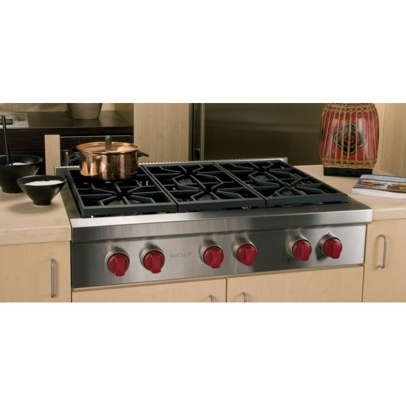 Gas Rangetop With 6 Sealed Burners