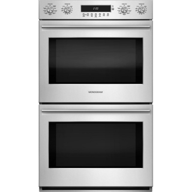 GE ZET2SHSS Monogram 30 Inch Smart 10 cu. ft. Total Capacity Electric Double Wall Oven with Warming Drawer in Stainless Steel