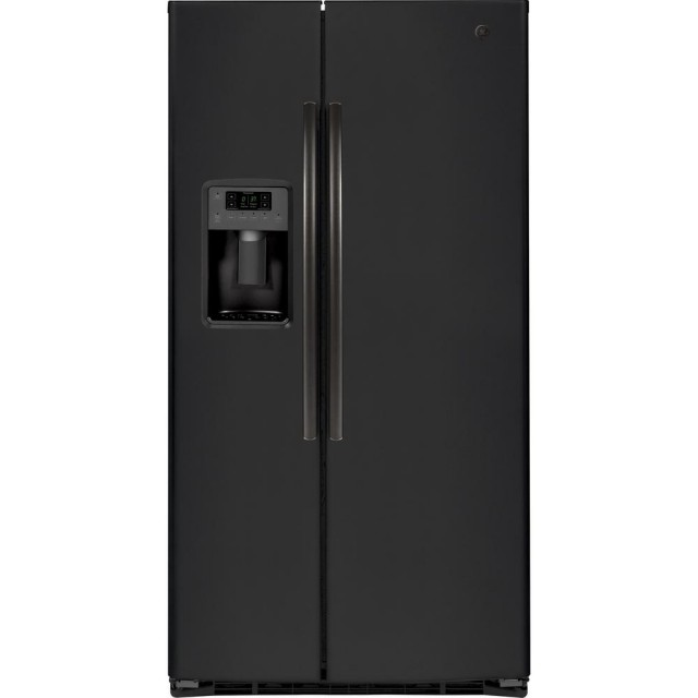 GE GSE25HEMDS 25.3 cu. ft. Side by Side Refrigerator in Black Slate, Fingerprint Resistant and ENERGY STAR