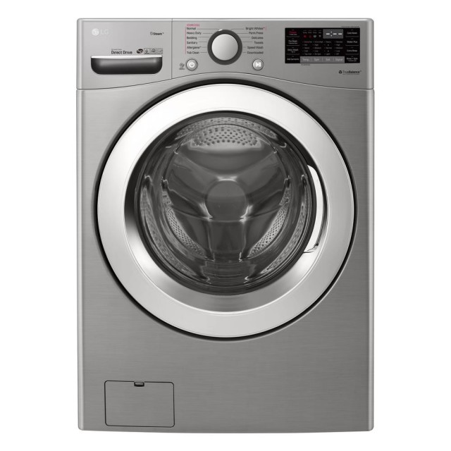 LG WM3700HVA 4.5 cu.ft. Ultra Large Capacity Front Load Washer with Steam and Wi-Fi Connectivity in Graphite Steel