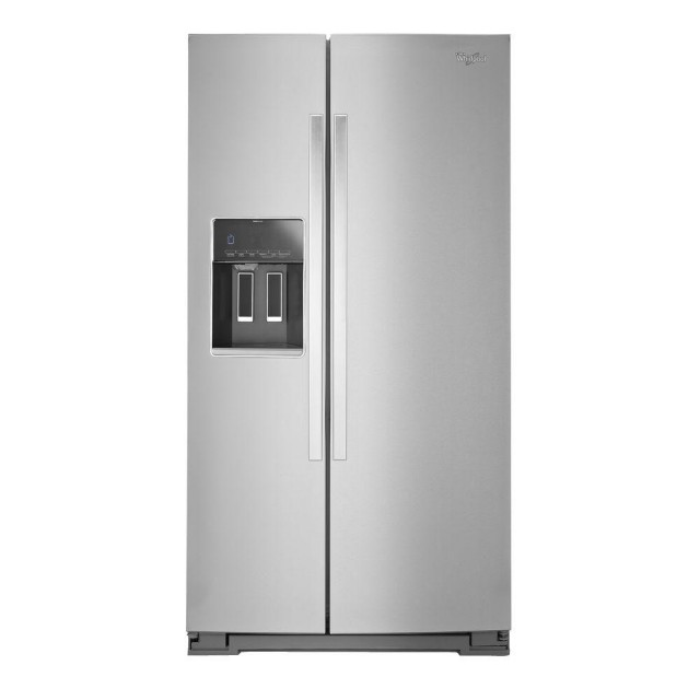Whirlpool Wrs586fiem 26 Cu Ft Side By Refrigerator In Monochromatic Stainless Steel