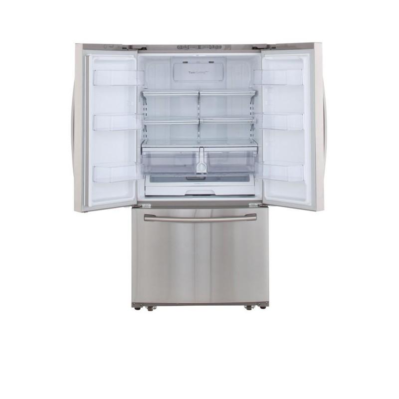 Samsung Rf261beaesr 25 5 Cu Ft French Door Refrigerator