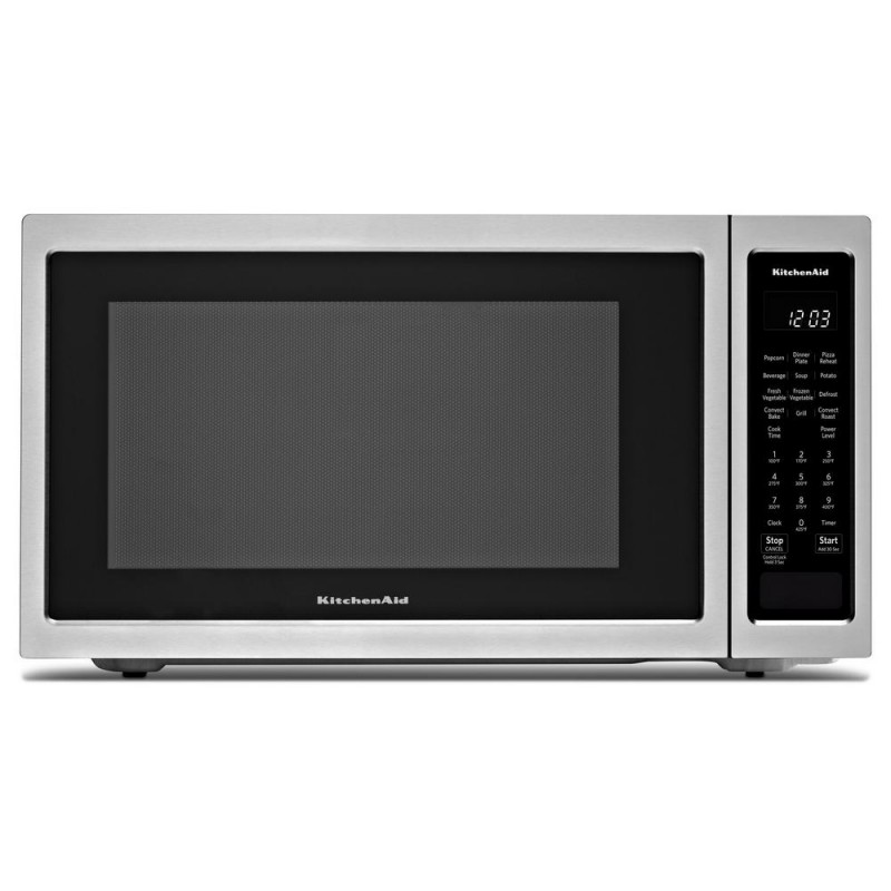 Kitchenaid Kmcc5015gss 1 5 Cu Ft Countertop Microwave In