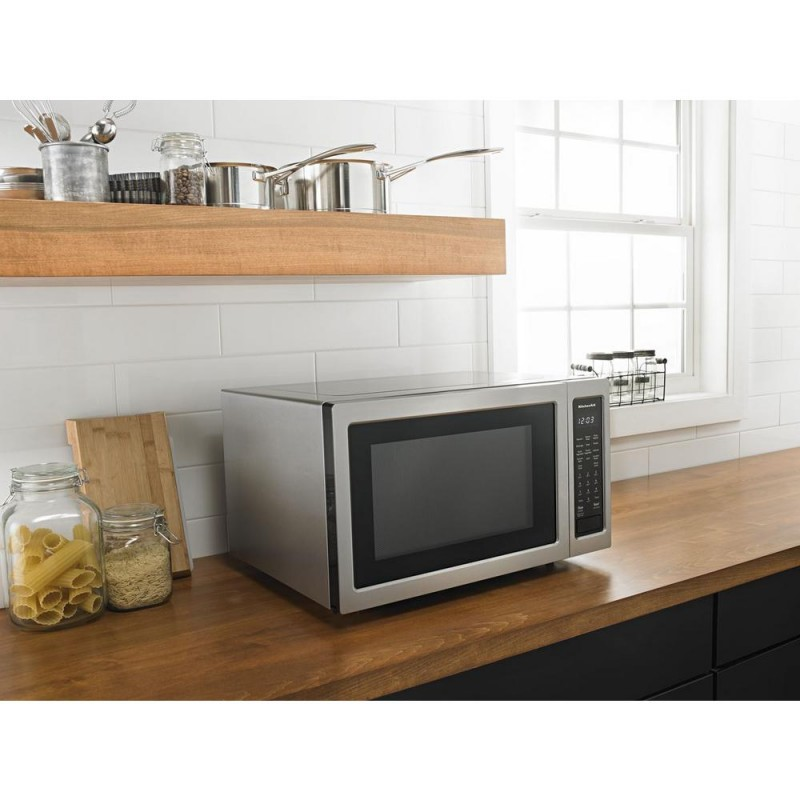 kitchenaid kmcc5015gss 1.5 cu. ft. countertop microwave in
