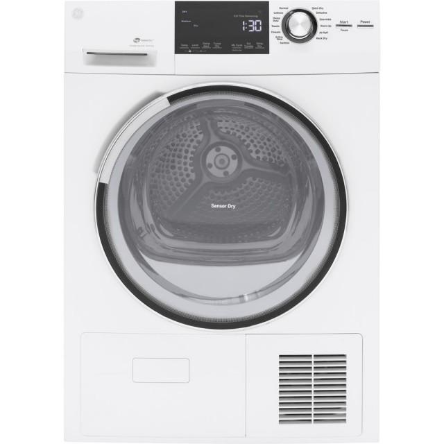 GE GFT14ESSLWW 4.0 cu. ft. High Efficiency Electric Dryer with Ventless Condenser in White