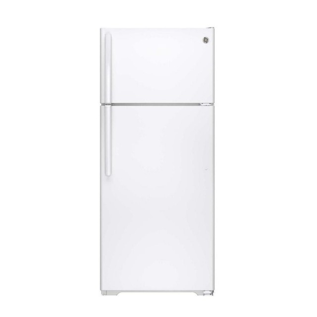 GE GIE18CTHWW  17.5 cu. ft. Top Freezer Refrigerator in White, ENERGY STAR