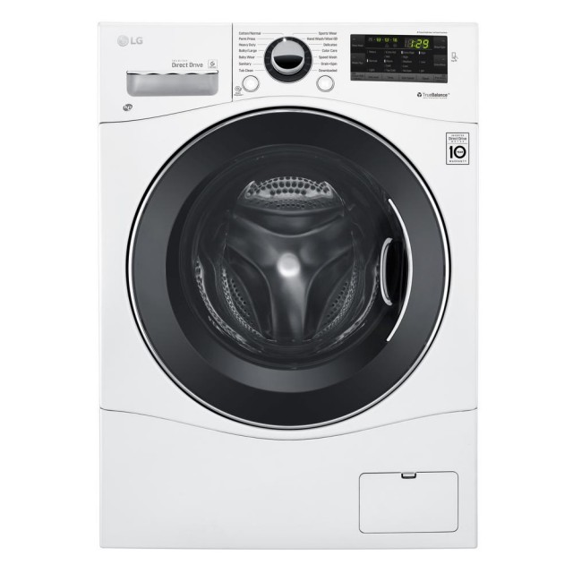 LG WM1355HW 2.3 cu. ft. High-Efficiency Front Load Washer in White, ENERGY STAR