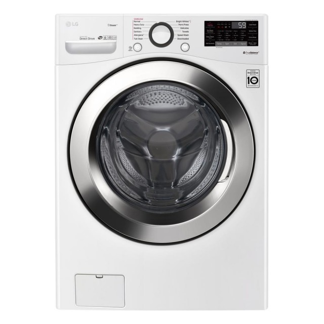 LG WM3700HWA 4.5 cu.ft. Ultra Large Capacity White Front Load Washer with Steam and Wi-Fi Enable