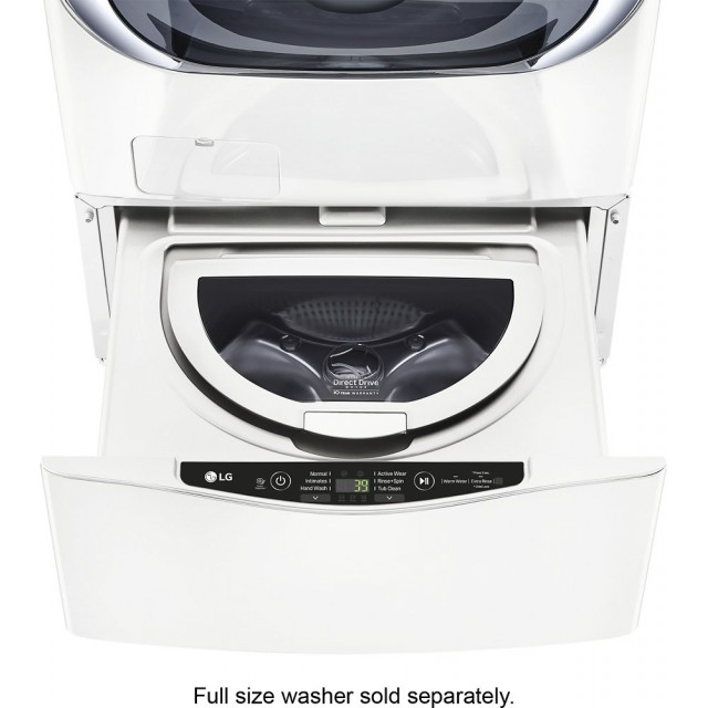 LG WD200CW 29 Inch 1.0 cu. ft. Twin Wash Pedestal Sidekick Washer: White