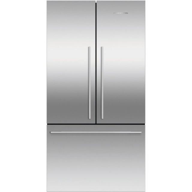 Fisher & Paykel RF201ADX5 ActiveSmart 20.1 Cu. Ft. French Door Counter-Depth Refrigerator in Ezkleen Stainless Steel