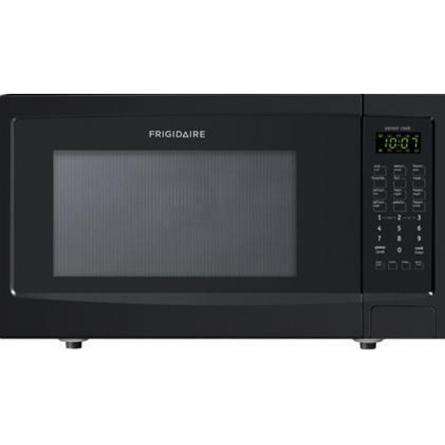 Frigidaire FFMO1611LB 1.6 cu. ft. Capacity Countertop Microwave with 1100 Cooking Watts, Sensor Cook, in Black