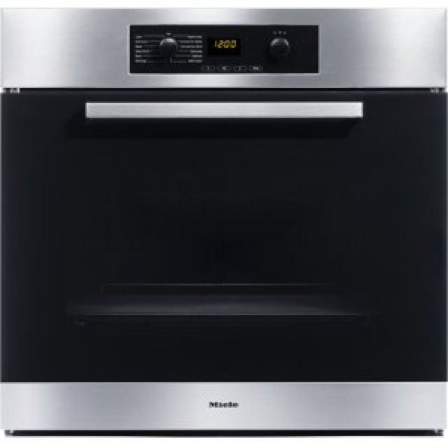 Miele H4846BPSS Europa Design 30 Inch Single Electric Wall Oven with True European Convection in Stainless Steel