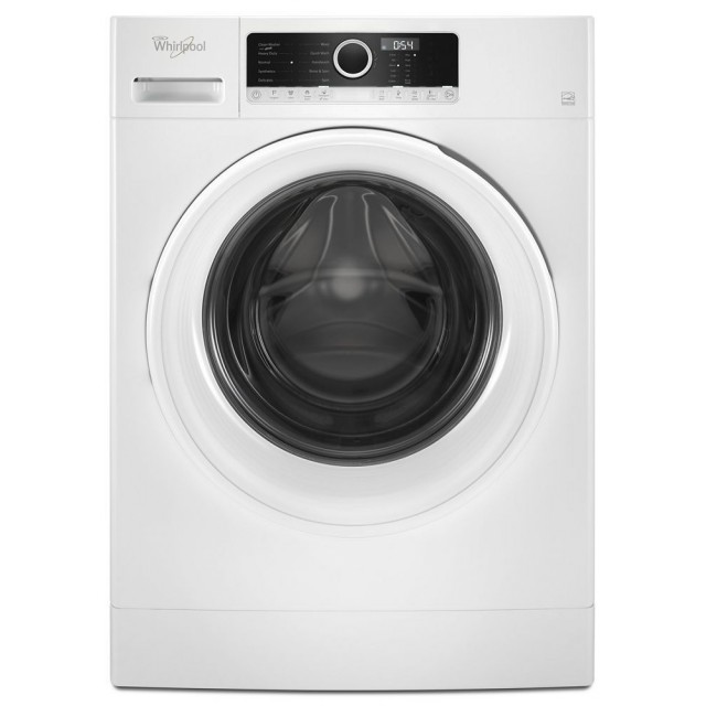 Whirlpool WFW3090GW 24 Inch Compact Front Load Washer with 1.9 cu. ft. Capacity, 10 Wash Cycles, 1400 RPM, in White