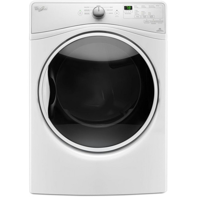 Whirlpool WED85HEFW 27 Inch Electric Dryer with 7.4 cu. ft. Capacity