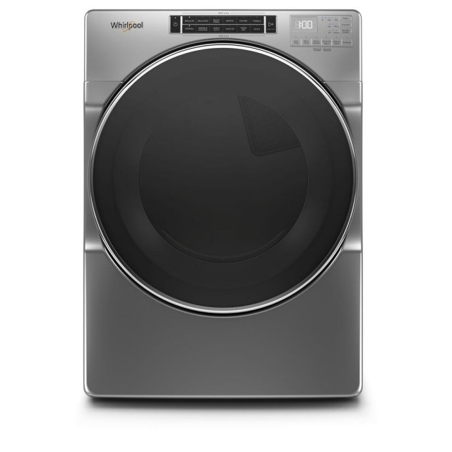 Whirlpool WGD8620HC 7.4 cu. ft. 120-Volt Chrome Shadow Stackable Gas Vented Dryer with Steam and Intuitive Touch Controls, ENERGY STAR