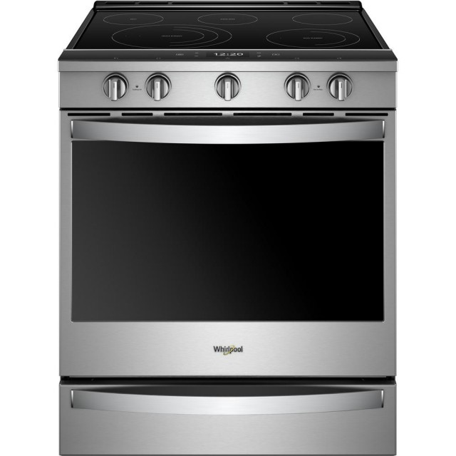 Whirlpool WEE750H0HZ 30 Inch Slide-In Electric Range with True Convection