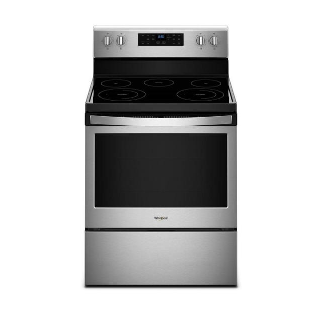 Whirlpool WFE525S0HZ 5.3 cu. ft. Electric Range with Self-Cleaning Oven in Fingerprint Resistant Stainless Steel