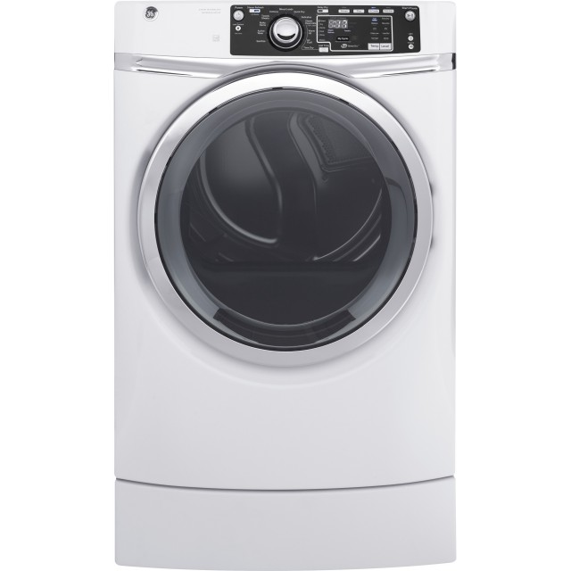 GE GFD49ERSKWW 28 Inch Electric Dryer with 8.3 cu. ft. Capacity, 13 Dry Cycles