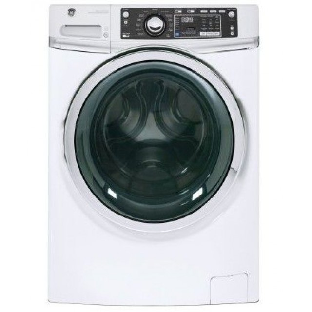 """GE GFW480SSKWW 28"""" 4.9 DOE Cu. Ft. Capacity Front Load Washer with Precision Dispense and Steam Assist - White"""