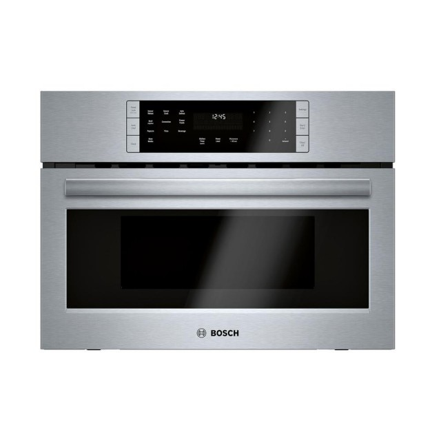 Bosch HMC87152UC 800 Series 27 in. 1.6 cu. ft. Built-In Convection Speed Microwave in Stainless Steel with SpeedChef Cooking
