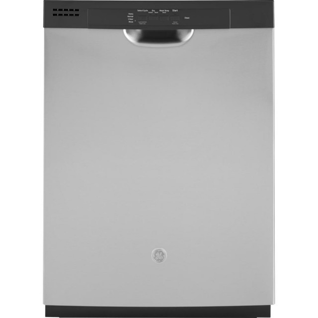 GE GDF510PSMSS 24 in. Front Control Built-in Tall Tub Dishwasher in Stainless