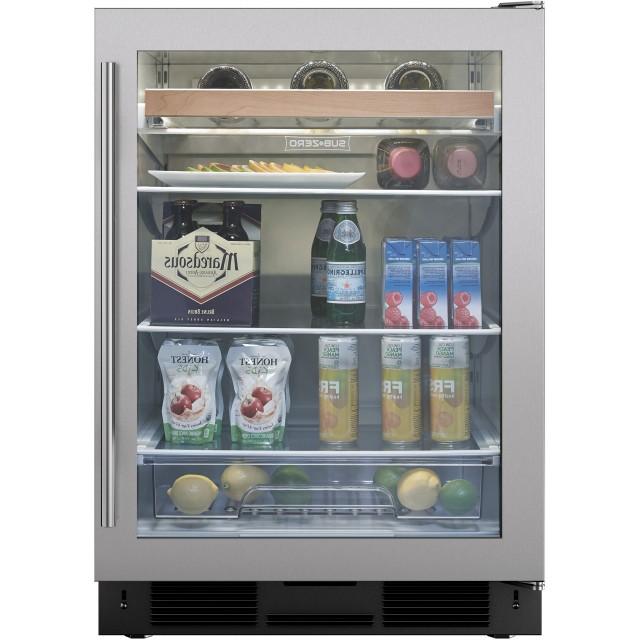 Sub-Zero UC24BGSTHRH 24 Inch Built-in Undercounter Beverage Center with 6.0 cu. ft. Capacity, 8-Bottle Wine Storage