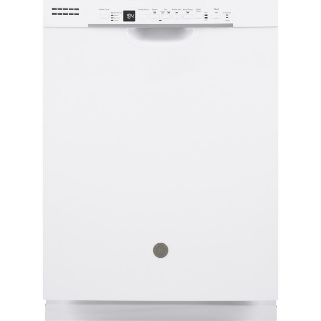GE GDF630PGMWW 24 in. Front Control Tall Tub Dishwasher in White with Steam Prewash, 50 dBA
