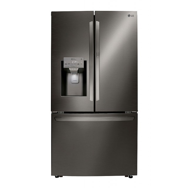 LG LRFDS3006D 36 In. 29.7 Cu. Ft. French Door-in-Door Refrigerator in Black Stainless Steel