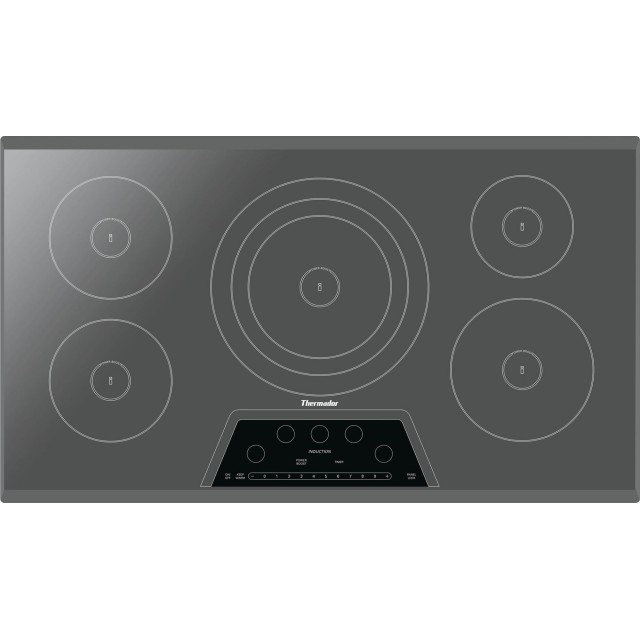 Thermador CIT365KM Masterpiece Series 36 Inch Electric Induction Cooktop with 5 Elements In Stainless Steel