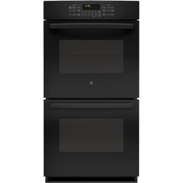 GE PK7500DFBB Profile 27 Inch Double Electric Wall Oven with 4.3 cu. ft. Total Capacity, True European Convection, Wifi Connect, in Black