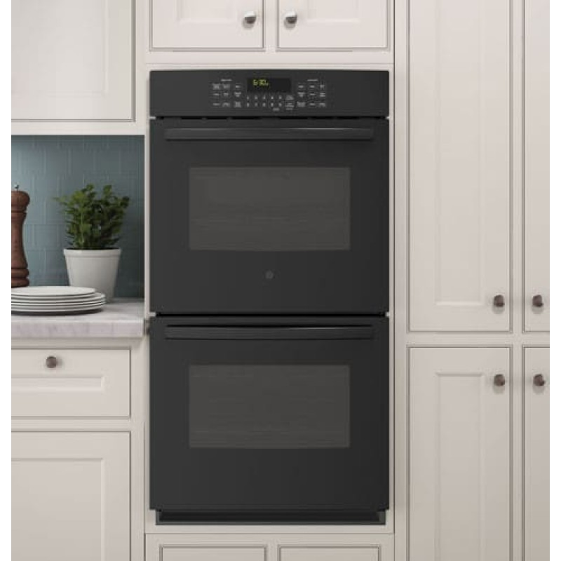 GE PK7500DFBB Profile 27 Inch Double Electric Wall Oven with 4.3 cu. ft. Total Capacity, True ...